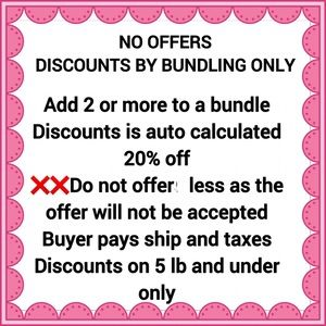 ❌disc.by bundling only , self checkout closet